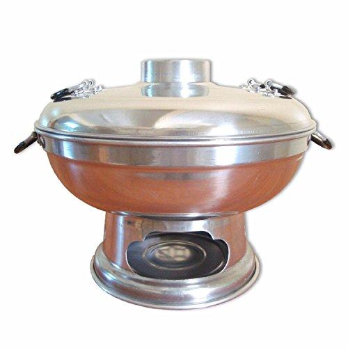 Thai Töpfe, Thai Grill in verschiedenen Größen und die dazu gehörige Kohle (Thai Topf 10922 - Höhe: 18cm / Durchmesser: 22cm)