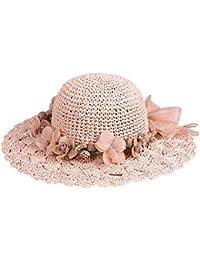 Summer Beach Hat Travel Sombrero de paja UV para mujeres niñas e91f38ac518