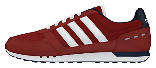 adidas Neo City Racer, Chaussures de Running Compétition Homme, Gris Rojo (Rojpot / Ftwbla / Maruni)