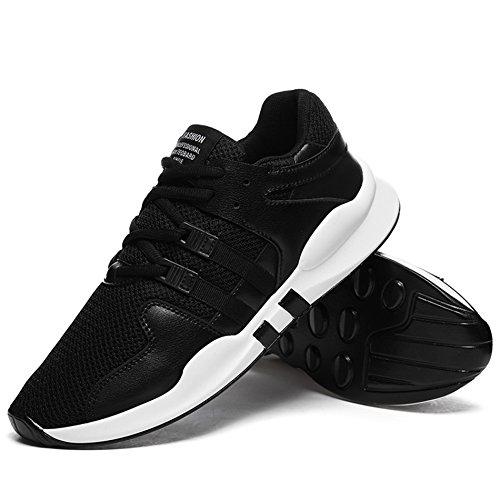 AgeeMi Shoes Herren Rund Zehe Unisex Erwachsene Low Top Sneakers Laufschuhe Schwarz
