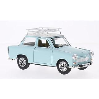 Trabant 601 S Deluxe mit Dachgepäckträger, hellblau/weiss, Modellauto, Fertigmodell, Lucky Die Cast 1:24