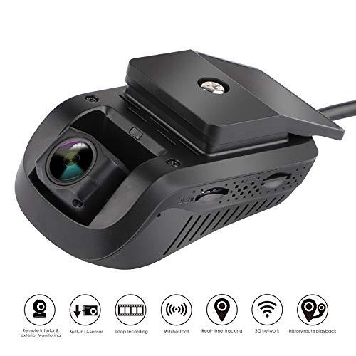 MiCODUS EdgeCam Pro 3G GPS-Tracking-Kamera, Full HD, 1080P, 140-Grad-Weitwinkel-DVR, WDR, Live-Video-Streaming, Fahrzeug-Tracker, Keine monatliche Gebühr
