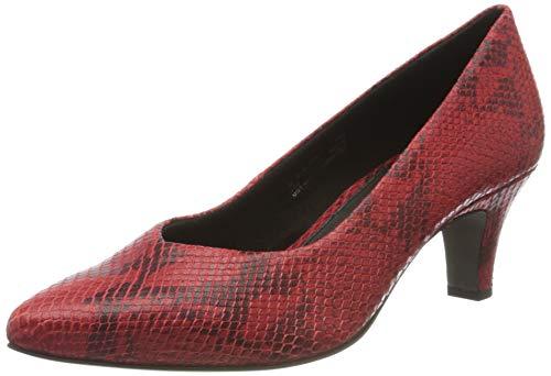bugatti 412685744800, Zapatos de Tacón para Mujer, Rojo (Red/Animal Print 3082), 40 EU