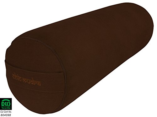 Bolster de yoga 100 % Coton Bio 65 cm x 23 cm - Chocolat