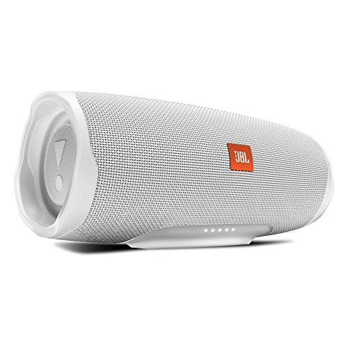 JBL Charge 4 Portable Bluetooth Speaker and Power Bank with Rechargeable Battery for More Devices - Waterproof - White