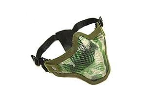 Protection bas du visage pour airsoft - demi masque / grille de protection Stalker génération 2 - motif camouflage woodland