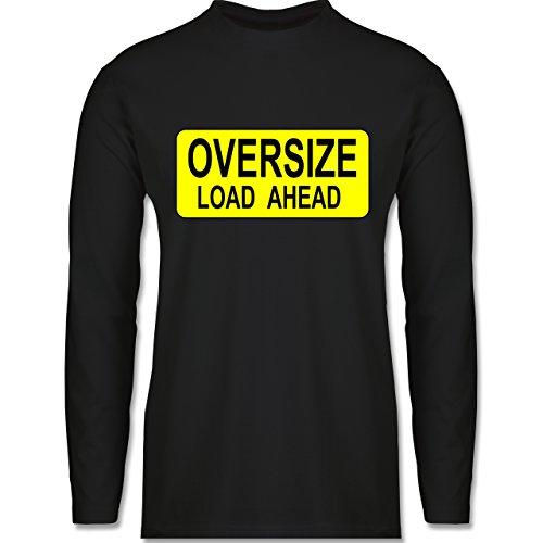 Shirtracer Trucker - Oversize Load Ahead Warnschild - Herren Langarmshirt Schwarz