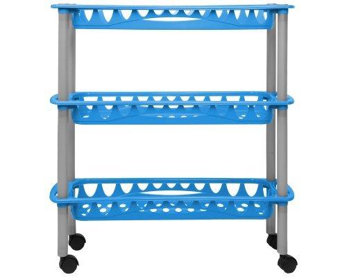 Ondis24 praktisches Küchenregal Badregal Badwagen Nischenwagen Still blau aus pflegeleichtem...