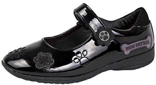 Girls Black Patent Paw Patrol School Shoes Black Size 11