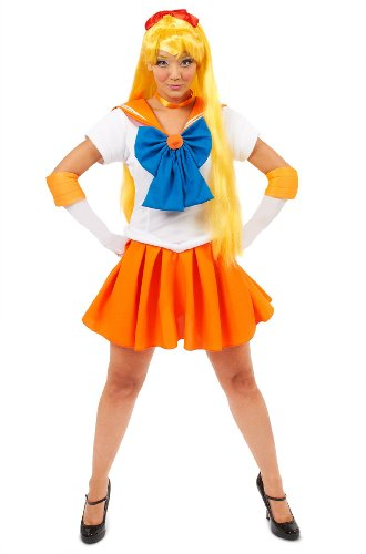 Sailor Moon Sailor Venus Adult Costume Halloween Size: Small (japan import)