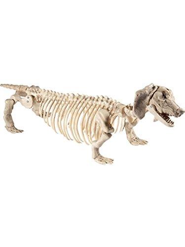 Kostüm Dackel Haloween - Smiffys Halloween Party Deko Dackelskelett Skelett Dackel Hund 55x13x30cm