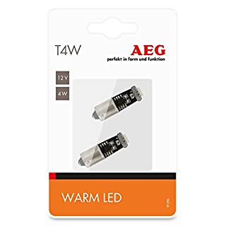 AEG Automotive 97296 High-Performance LED Warm-white T4W, 12V, set of 2