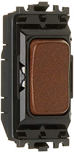 MK Aspect/Edge Grid k4899tcob 20A Single Pole 2-Wege/Center Off Switch Modul-Strukturierte Kupfer -