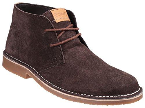 Cotswold Herren Fairford Leder Wüstenstiefel Desert Boots Wasserdicht Schuhe Braun 45 - Cotswold Leder