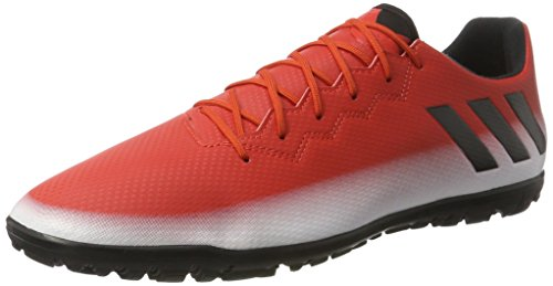 adidas Messi 16.3 Tf, Chaussures de Football Homme Rouge (Red/core Black/ftwr White)