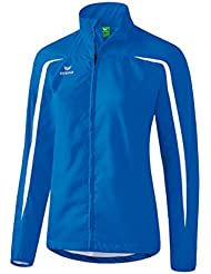 Erima running–Chaqueta para mujer, Mujer, color azul y blanco, tamaño L
