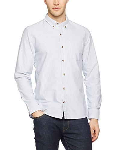 Fat Face Oxford Stripe Shirt, Camicia Uomo Blue (New Navy)