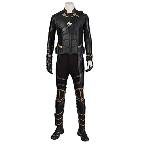 QWEASZER Marvel Avengers 4 Hawkeye Cosplay Kostüm Requisiten Männer Kostüm Halloween Bühnenkleidung Movie Game Rollenspiele Bodysuit Overalls,Clinton Francis Barton-Custom Size (Clinton Kostüm Party)