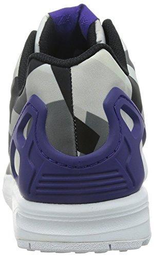 Adidas Zx Flux, Scarpe sportive, Uomo Blanco / Morado Oscuro / Negro
