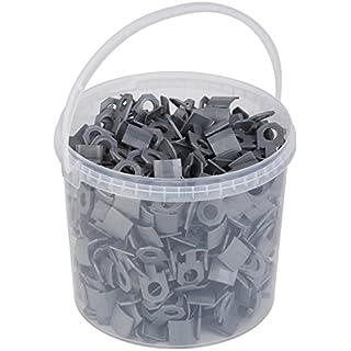 Meister Ersatzclips für Nivelliersystem, 400 Stück - Im Eimer - Fliesendicke 7-15 mm / Fliesen-Nivellierhilfe mit Zuglasche / Verlegehilfe mit Keilen / 4423200