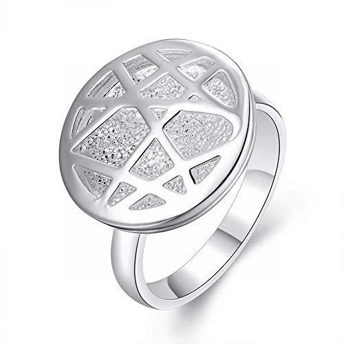 Marcu Home Damen Pop Ball Kupfer runder Doppelring Europäische und amerikanische Pop Art runder Hollow Lady Ring - Amerikanischen Pop-art