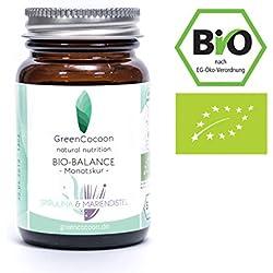 Deine BIO Balance Kapseln von GreenCocoon®, natürliche Entschlackung, BIO Spirulina, Mariendistel, Chlorella, Koriander