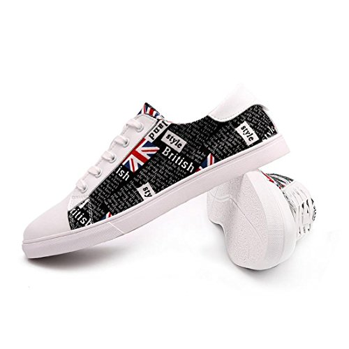 Men's British Style Lace Up Anti Skid Skateboarding Shoes 1
