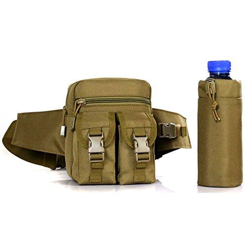dohot Tactical MOLLE Wasser Flasche Tasche Taille Pack für Wandern Camping und Sport hautfarben