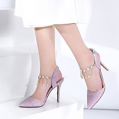 RTRY Donna Sandali Primavera Estate Autunno Glitter Wedding Office &Amp; Carriera Parte &Amp; Sera Stiletto Heel Strass Oro Argento Viola Chiaro US9 / EU40 / UK7 / CN41