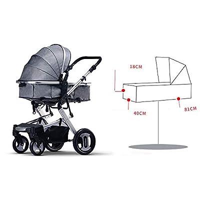 Carrito de bebé portátil y plegable, el cochecito de bebé puede sentarse en las cuatro ruedas Amortiguador de choque Cochecito de niño de dos vías plegable para bebé Dos modos - Conveniencia de viaje