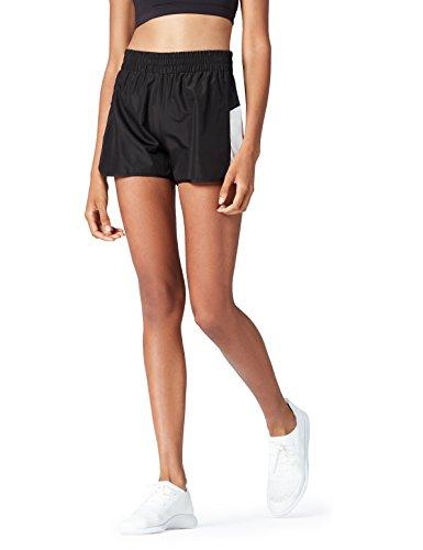 FIND Pantalones Cortos de Deporte para Mujer , Negro (Black/silver Grey), 40 (Talla del fabricante: Medium)