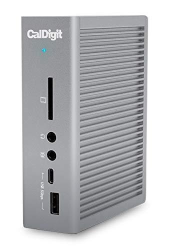 CalDigit TS3 Plus - Thunderbolt Station 3 (0.7M) Kabel - 85 W Aufladen, 7 x USB 3.1 Anschlüsse, USB-C Gen 2, DisplayPort, UHS-II SD-Kartensteckplatz, LAN (Space Grey) -