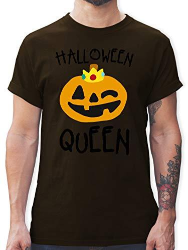Halloween - Halloween Queen Kostüm - XL - Braun - L190 - Herren T-Shirt und Männer - Scream Kostüm Braun