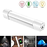 Konesky Strobe Light Notfall Camping Lampe Portable LED Taschenlampe mit 4 Modi USB Powered mit Magnet für Wandern Garage Car Repair
