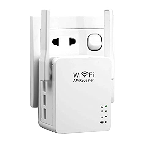 NoyoKere 300Mbps WiFi Repeater, WLAN Access Point Range,Router Extender mit LAN Port,WPS,WPA