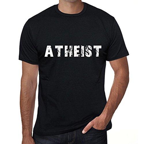 Herren Grafikdesign Vintage Geschenk T-Shirt Fügen Sie Ihren eigenen Text Atheist L Schwarz