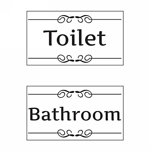 Bad WC Toilette Türaufkleber Wandtattoo Wandsticker Wandaufkleber Aufkleber Schwarz
