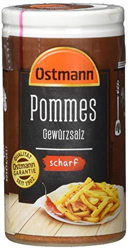 Ostmann Pommes Gewürzsalz scharf 70 g Pommesgewürz Bratkartoffelgewürz, scharfes Pommessalz, für sagenhaft leckere Pommes Frites (1 x 70g)