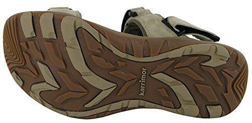 Mesdames 3velcro Antibes Chaussures Sandales d'été en cuir Beige