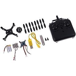 non-brand Kit RC Montaje DIY Juguetes Mini Racing Drone sin Cabeza Moda 2.4 GHz LED
