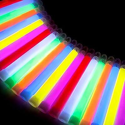 Glowz Premium Ultra Bright Jumbo Glow Sticks (Colores Mezclados) Paquete de 25 de Glowz