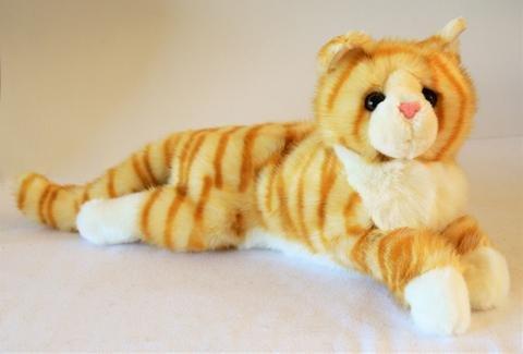 Memorable Pets Katze Plüsch Tabby Therapiepuppe für die Person mit normalem Alterungsgedächtnisverlust oder caregivers Orange (Tabby-katze-plüsch)