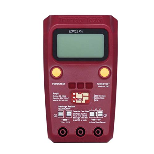 Dergtgh Digital-Transistor SMD-Komponenten Tester Diode Triode Kapazität Induktivität Multimeter ESR Meter Digital-multimeter Plug-in