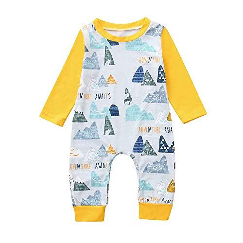 (Babykleidung Set,Beikoard Baby Langarm Print Onesies Jumpsuit Bekleidungsset Kleidung Outfits Baby Kleidung Set)