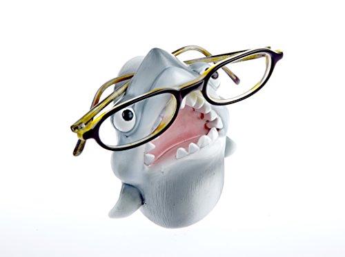 By-Bers Kinderbrillenhalter, Brillenhalter Karibik, Hai Sammler, handbemalt, aus Polyresin, für jung und alt, für Kinder und Junggebliebene, lustig und frech