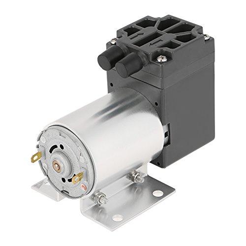 Minivakuumpumpe, DC12V 6W Unterdruck-Saugpumpe, mit Halterung, 5 l/min 120 kPa, Hochleistungsvakuumpumpe für Gas