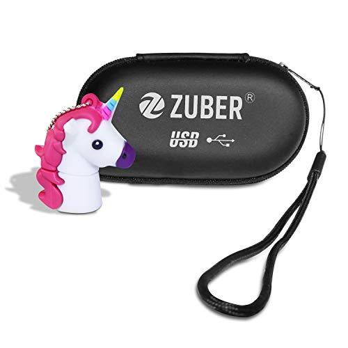 ZUBER® - Memoria USB con diseño de Unicornio Blanco - Memoria USB 2.0 de Dibujos Animados con Alta Velocidad y Amplia compatibilidad - Gran Idea de Regalo 32 GB
