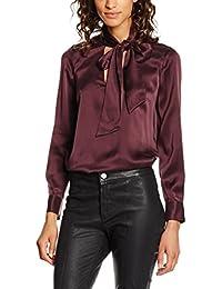Stefanel Camicia Satin Unito, Camisa para Mujer