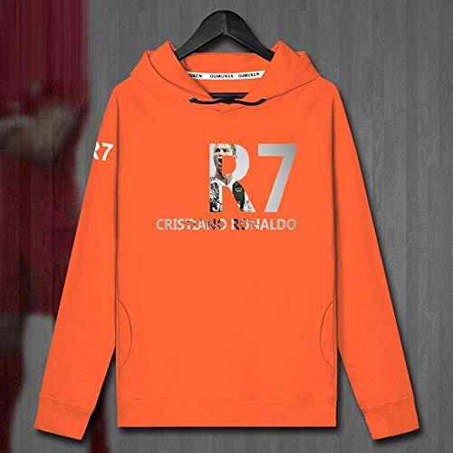 VIOY Ronaldo Plus - Velvet Couple - Kapuzenpullover Juventus 7. Herbstfrühlingsmantel,Orange,L -