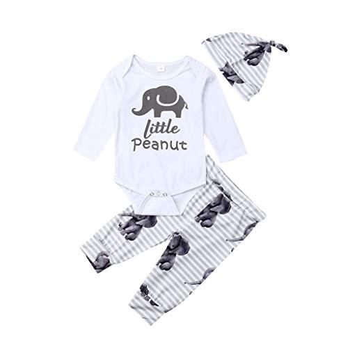 Delfine T-shirt Sweatshirt (Julhold Infant Baby Jungen & Mädchen Einfache Kurzer Cartoon Drucken Baumwolle Strampler Body + Pants + Hut Outfits 3-24 Monate)